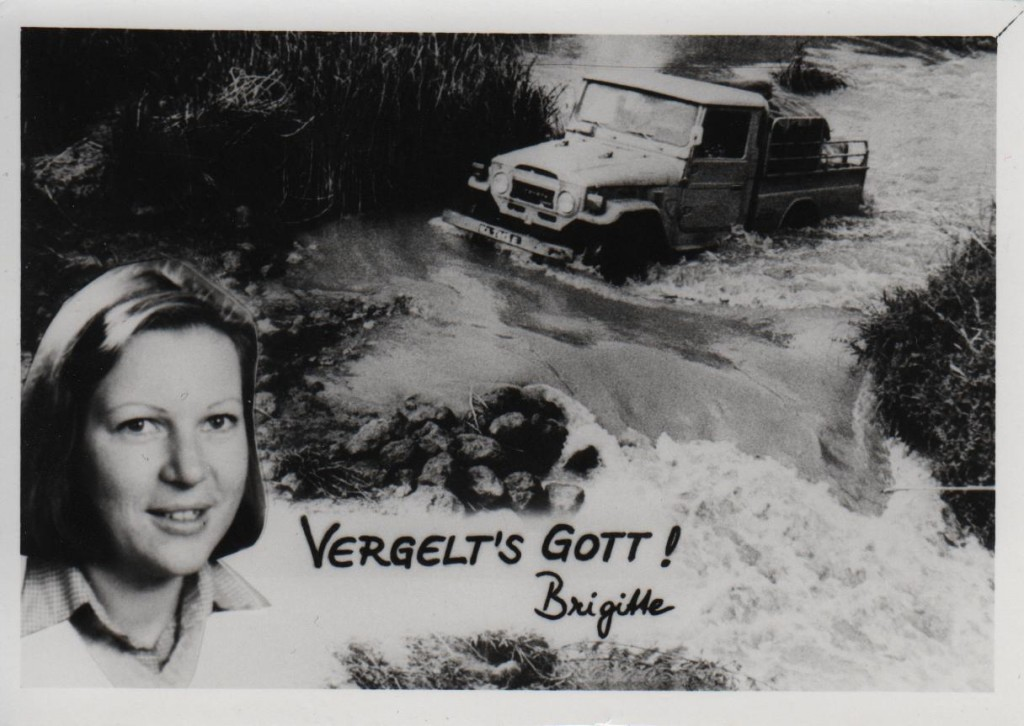 Brigitta, ca. 1980 im Rahmen ihres ersten Einsatzes in der Zentralafrikanischen Republik