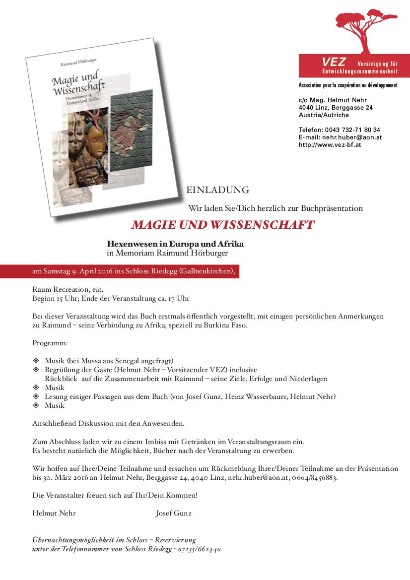 Einladung zur Buchpräsentation